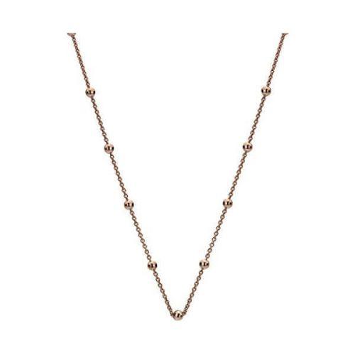 Hot Diamonds Růžově pozlacený stříbrný řetízek Emozioni CH051 stříbro 925/1000