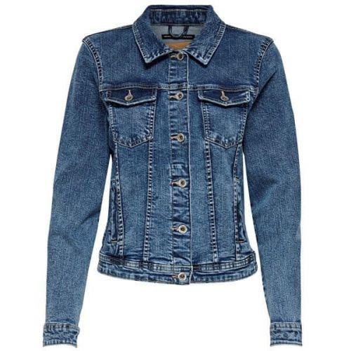 ONLY Dámská džínová bunda ONLTIA 15170682 Medium Blue Denim (Velikost 34)