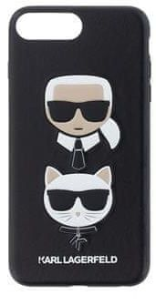 Karl Lagerfeld Karl and Choupette Hard Case Black pro iPhone 7 Plus / 8 Plus KLHCI8LKICKC