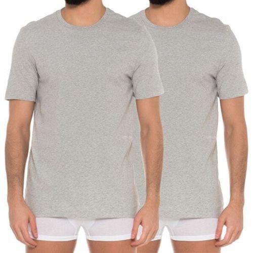 Calvin Klein 2 PACK - pánské triko Grey Heather NM1686A-080 (Velikost S)