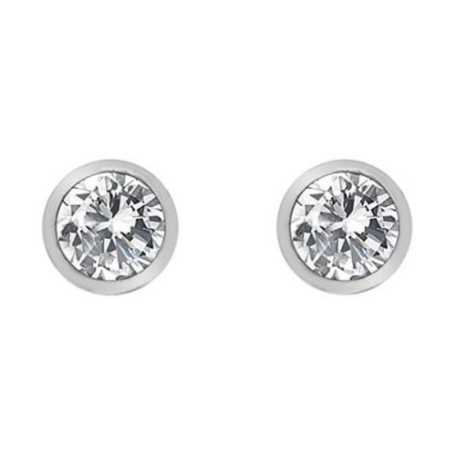 Hot Diamonds Stříbrné náušnice s topazy a pravým diamantem Willow DE584