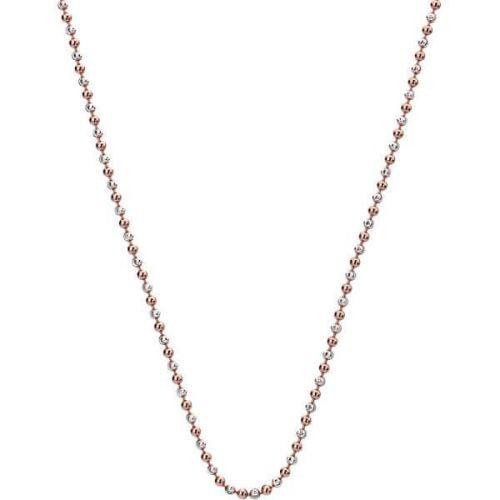 Hot Diamonds Stříbrný řetízek Emozioni Silver and Rose Gold Bead CH021 stříbro 925/1000