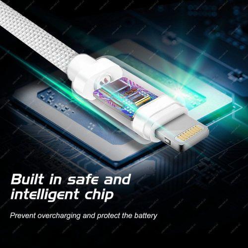 SWISSTEN DATOVÝ KABEL SWISSTEN TEXTILE USB / LIGHTNING 3,0 M ČERNÝ 71527600