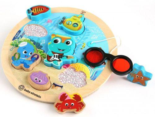 Hape Baby Einstein Hračka dřevěná puzzle Submarine Adventure