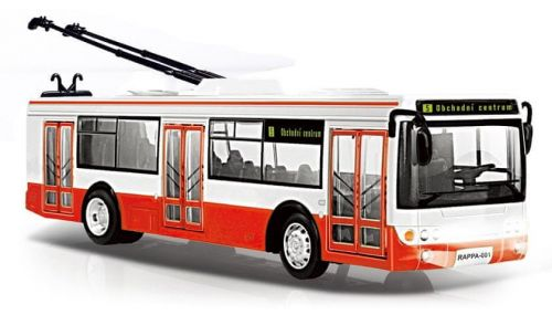 Rappa Trolejbus hlásí zastávky česky s funkčními dveřmi, 28 cm