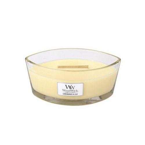 Woodwick Vonná svíčka loď Lemongrass & Lily 453,6 g