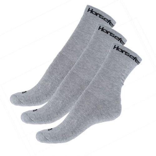Horsefeathers 3PACK ponožky šedé (AA547D) - velikost M