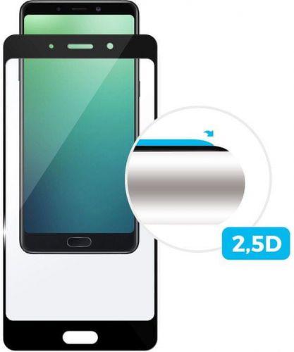 Fixed Ochranné tvrzené sklo Full-Cover pro Nokia 4.2, lepení přes celý displej, černé, FIXGFA-403-BK