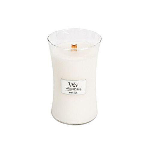 Woodwick Vonná svíčka váza White Teak 609,5 g