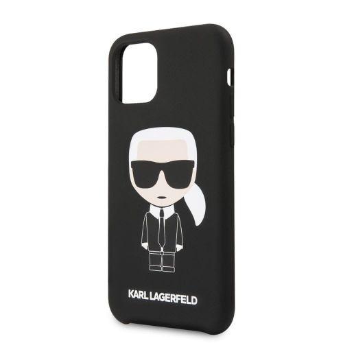 Karl Lagerfeld Iconic Silikonvý Kryt pro iPhone 11 Pro Black (EU Blister) (KLHCN58SLFKBK)