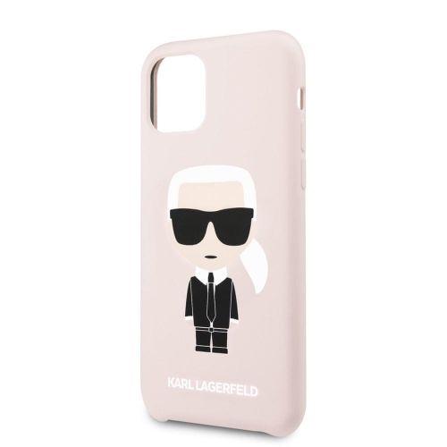 Karl Lagerfeld Silikonový Kryt pro iPhone 11 Pro Max Pink (EU Blister) (KLHCN65SLFKPI)