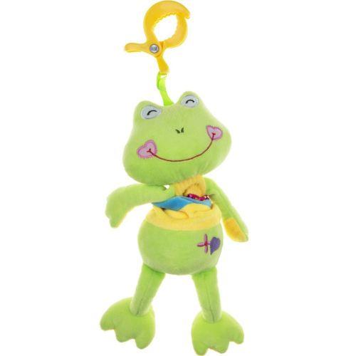 AKUKU Plyšová hračka s hracím strojkem Akuku žabka