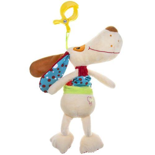AKUKU Plyšová hračka s hracím strojkem Akuku pejsek