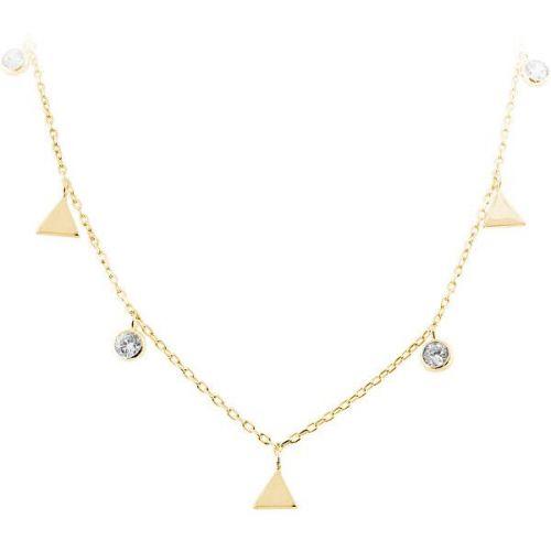 JVD Stříbrný náhrdelník s trojúhelníky SVLN0261SH2GO42 stříbro 925/1000