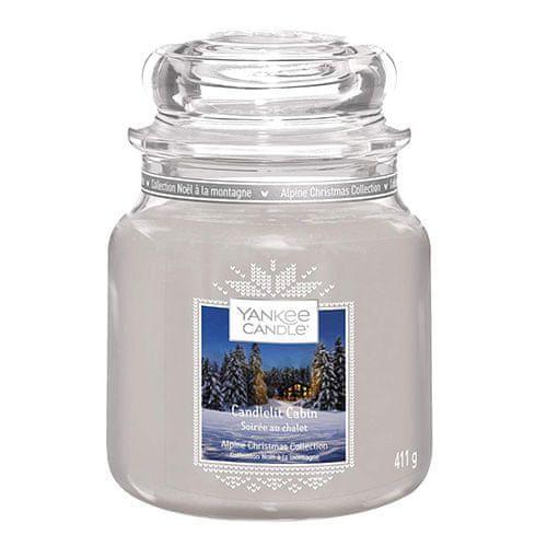 Yankee Candle Svíčka ve skleněné dóze , Chata ozářená svíčkou, 410 g
