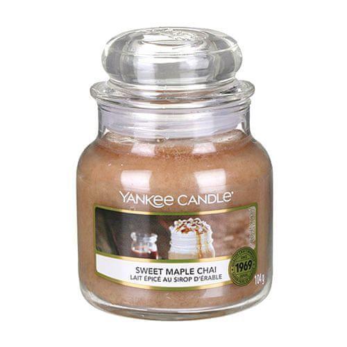 Yankee Candle Svíčka ve skleněné dóze , Sladký javorový chai, 104 g