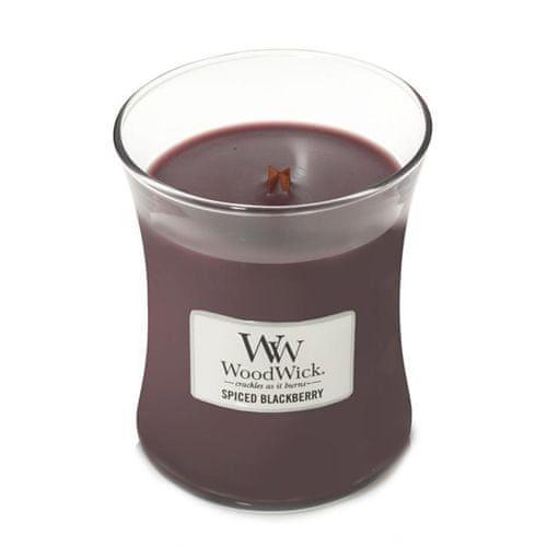 Woodwick Svíčka oválná váza , Pikantní ostružina, 275 g
