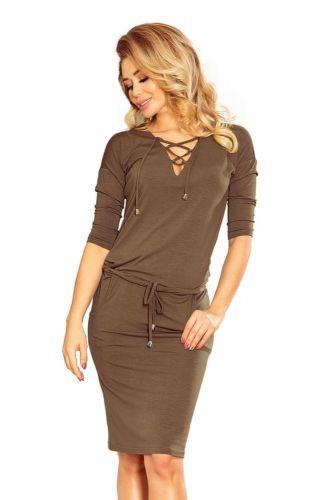 Numoco Dámské šaty 230-3, khaki, S
