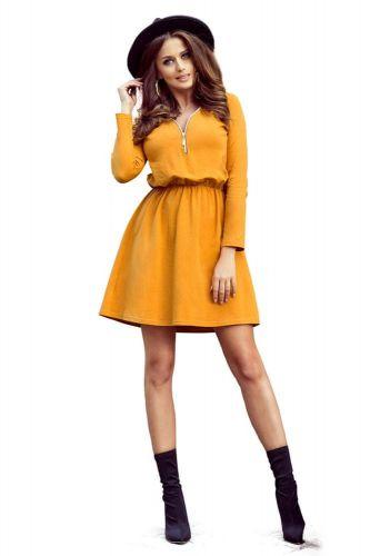 Numoco Dámské šaty 283-1 Nancy, žluto-oranžová, L