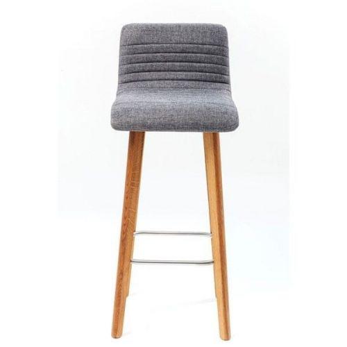 KARE Modrá čalouněná barová židle Lara Ecru