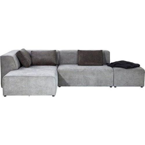 KARE Rohová sedačka Infinity Otoman - šedá, levá