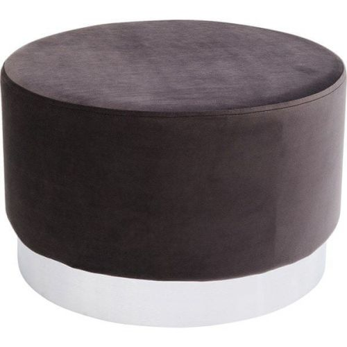 KARE Tmavě hnědý taburet Cherry - sokl stříbrný