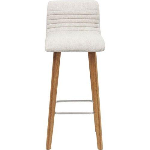 KARE Bílá čalouněná barová židle Lara Ecru