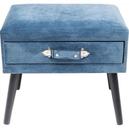KARE Modrá stolička s úložným prostorem Drawer