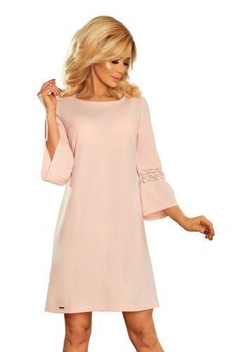Numoco Dámské šaty 190-1, pudrově růžová, XXL