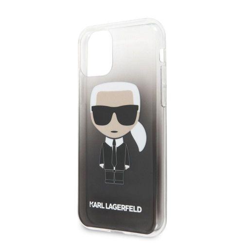 Karl Lagerfeld Ikonik Kryt pro iPhone 11 Black (EU Blister), KLHCN61TRDFKBK