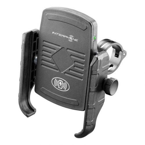 Interphone Univerzální držák na mobilní telefony Motocrab s bezdrátovým nabíjením, černý, SMMOTOWIRELESS