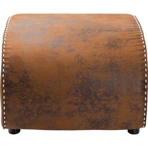 KARE Hnědá kožená podnožka Ritmo Vintage Eco