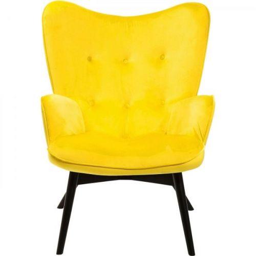 KARE Křeslo Vicky Velvet Yellow