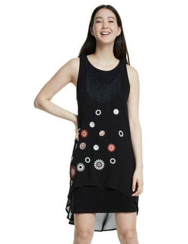 Desigual dámské šaty Barrie 20SWVW56 36 černá