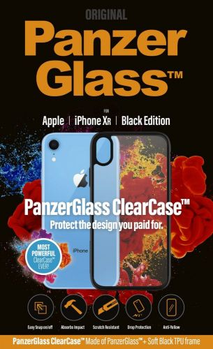 PanzerGlass ClearCase pro Apple iPhone Xr Black Edition 0220
