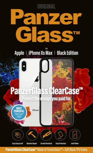 PanzerGlass ClearCase pro Apple iPhone Xs Max Black Edition 0221
