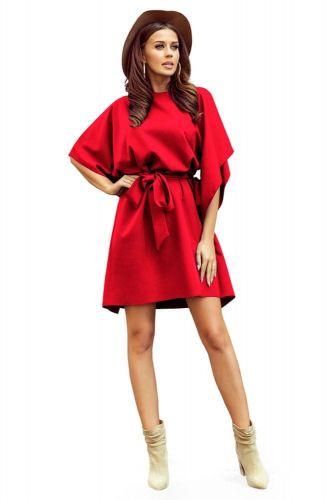 Numoco Dámské šaty 287-3 Sofia, červená, L/XL