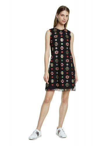 Desigual dámské šaty Tresor 20SWVW08 36 černá
