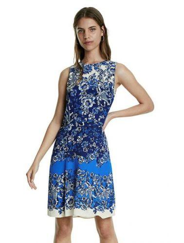 Desigual dámské šaty Atenas 20SWVW80 38 modrá