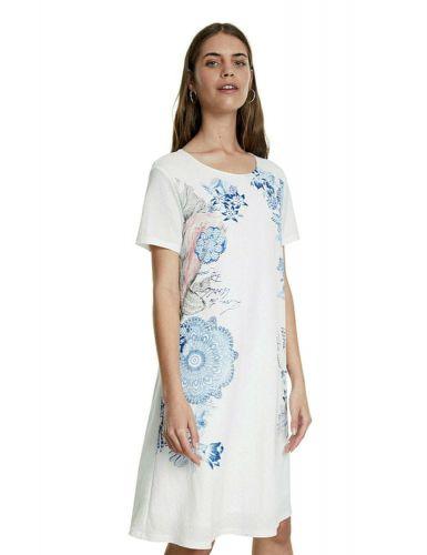 Desigual dámské šaty Charlotte 20SWVK57 S bílá