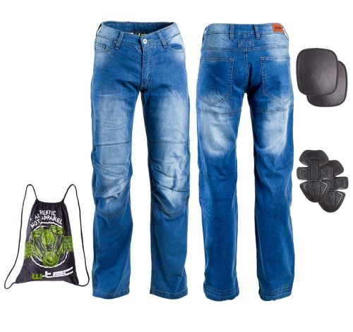 W-TEC Pánské moto jeansy Davosh - barva modrá, velikost S