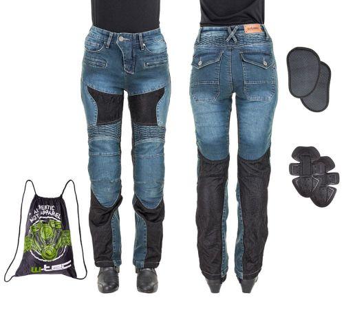 W-TEC Dámské moto jeansy Bolftyna - barva modro-černá, velikost XS