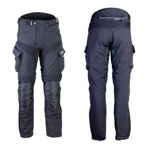 W-TEC Pánské softshellové moto kalhoty Erkalis - barva černá, velikost M