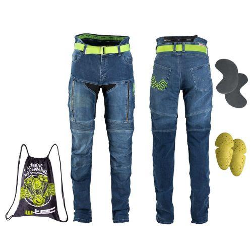 W-TEC Dámské moto jeansy Ekscita - barva modrá, velikost 27