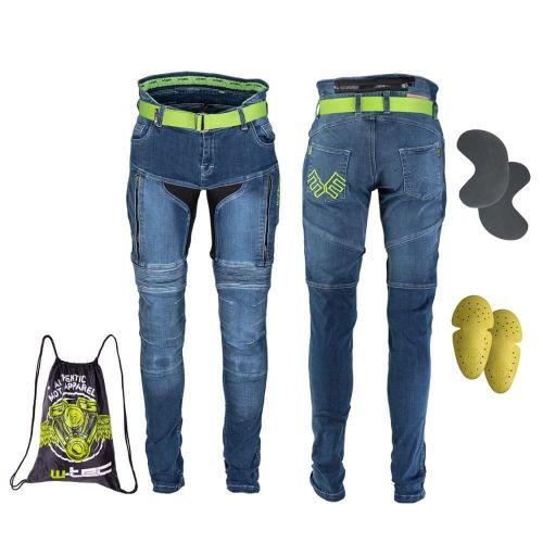 W-TEC Pánské moto jeansy Grandus - barva modrá, velikost 30