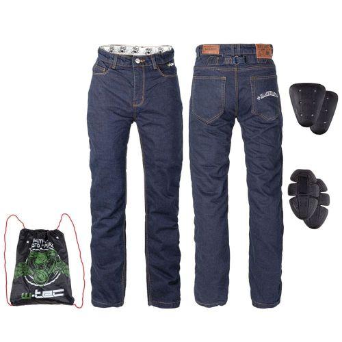 W-TEC Pánské moto jeansy Resoluto - barva modrá, velikost S