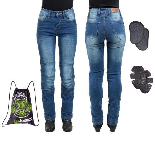 W-TEC Dámské moto jeansy Lustipa - barva modrá, velikost XS