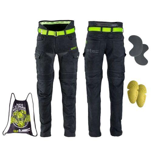 W-TEC Pánské moto jeansy Aredator - barva černá, velikost 30