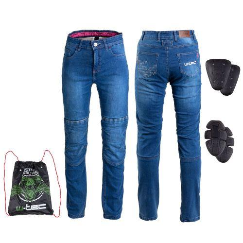 W-TEC Dámské moto jeansy GoralCE - barva modrá, velikost S
