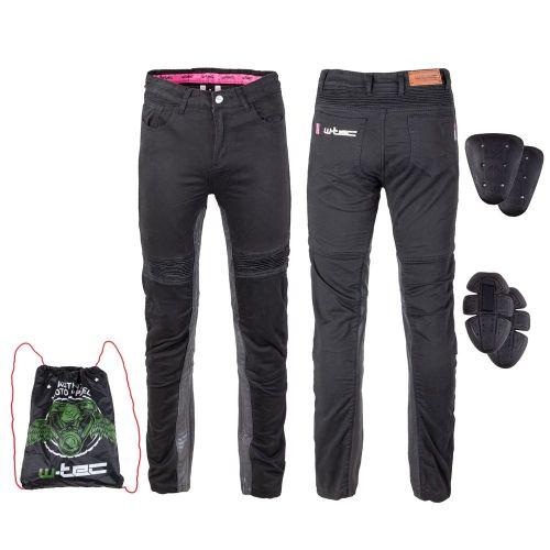 W-TEC Dámské moto kalhoty Ragana - barva černá, velikost S